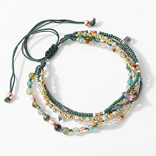 Joya Gift Adjustable Wrap Bracelet Bohemian Braided Beads Summer Beach Anklet for Women Girls by Joya Gift (Image #4)