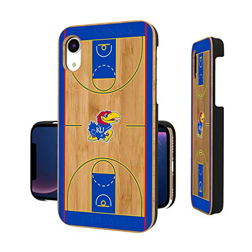 Ku Basketball Kansas - Keyscaper KBAMXR-00KS-TBCRT1 Kansas Jayhawks iPhone XR Bamboo Case with KU Basketball Court Design