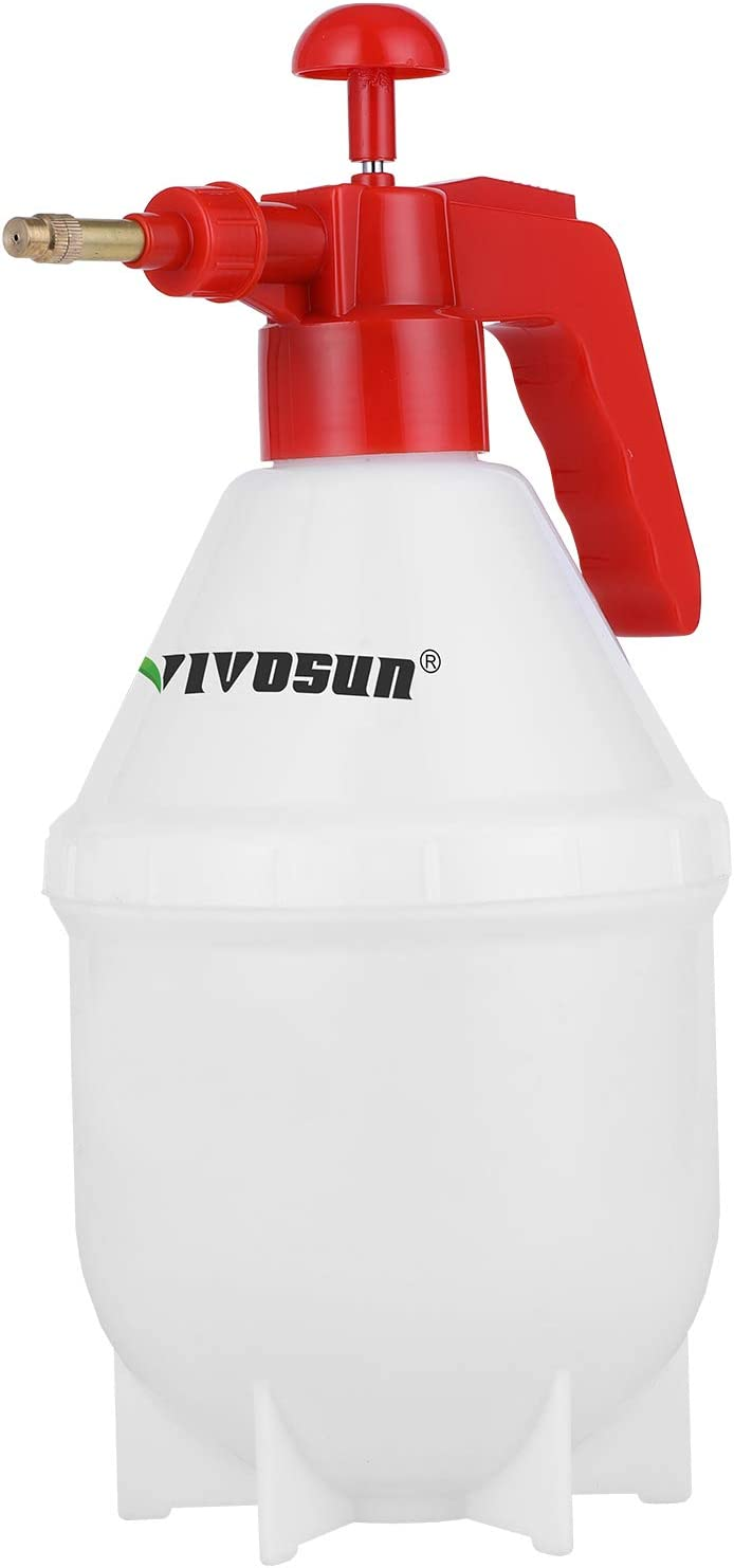 VIVOSUN 0.4Gallon Hand held Garden Sprayer Pump Pressure Water Sprayers, 50 oz Hand Sprayer for Lawn, Garden (1.5L Red)