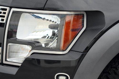 American Car Craft Ford F-150 Raptor 2010 2011 2012 Carbon Fiber Headlight Bumper Panel Trim Wrap RAPTOR-AMERICAN CAR CRAFT 636947866302
