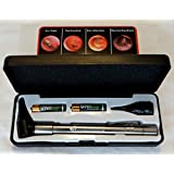 HARD CASE-Third Generation Dr Mom Slimline Stainless LED Pocket Otoscope now includes True View Full Spectrum LED and Pocket Clip