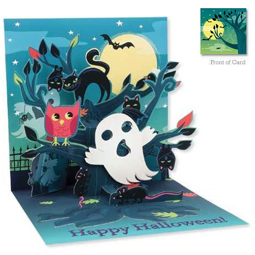 3D Greeting Card - Haunted Tree - Halloween -