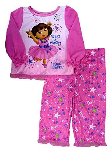 Explorer Nightgown - Nickelodeon Toddler Girl Dora The Explorer Sleepwear Set What A Party Pajamas, Size 2T