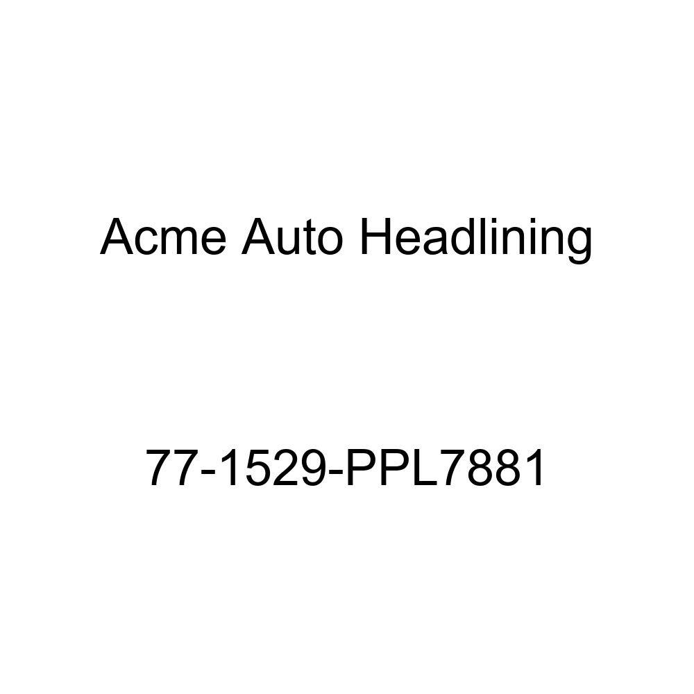 Acme Auto Headlining 77-1529-PPL7881 Carmine Replacement Headliner 1977 Pontiac Grand Safari//Lemans 4 Door Wagon 7 Bow