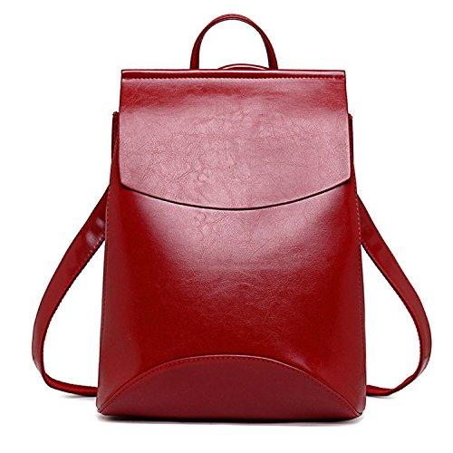 Bagpack Femenina Cuero Bandolera Para De Escuela Mochila Moda Roja Mochilas De Adolescentes Chicas La Mujeres w4H7aOq