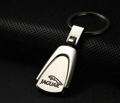 Jaguar pearshaped Deluxe en acier inoxydable logo porte-clés avec boîte