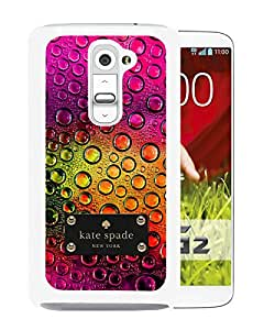 Fashionable And Unique Designed Kate Spade Cover Case For LG G2 White Phone Case 69