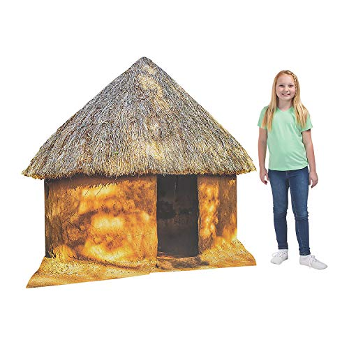 Fun Express - African Safari Vbs Hut Stand up - Party Decor - Large Decor - Floor Stand Ups - 1 Piece -