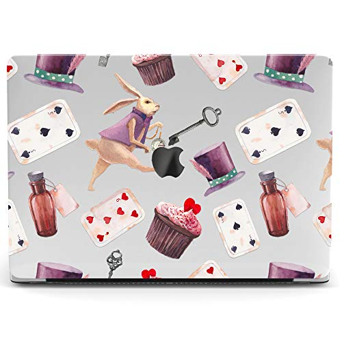 Wonder Wild Mac Retina Cover Case for MacBook Pro 15 inch 12 11 Clear Hard Air 13 Apple 2019 Protective Laptop 2018 2017 2016 2015 Plastic Print Touch Bar Cartoon Girly Kids Cute Alice in Wonderland]()