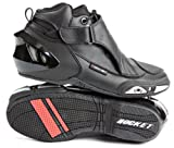 Joe Rocket Velocity V2X Men's Riding Shoes Sports Bike Racing Motorcycle Boots - Black / Size 7