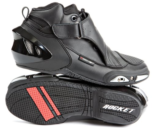 Joe Rocket Velocity V2X Men's Riding Shoes Sports Bike Racing Motorcycle Boots - Black / Size 7 (Black V2 Race Helmet)