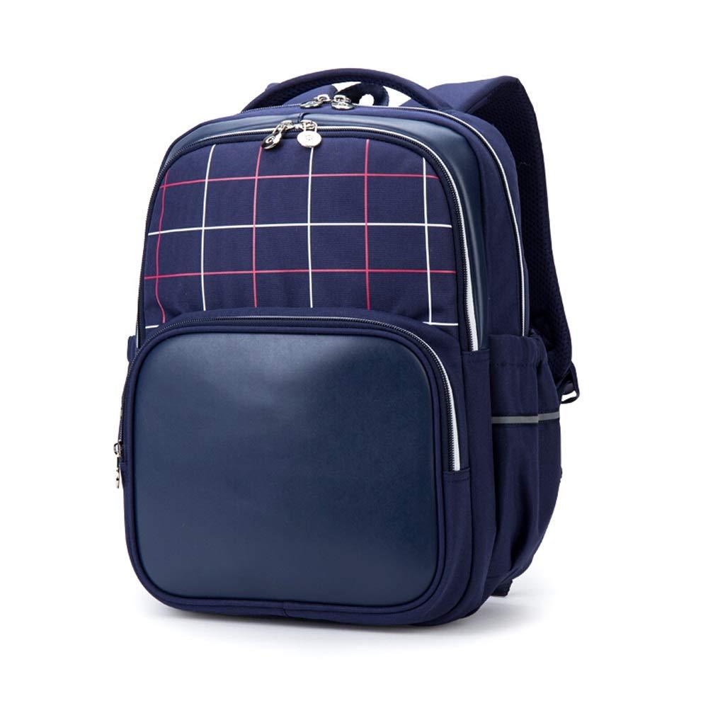 英国の風の小学生は、負担を軽減する多機能防水バックパックファッショントレンドバックパック多目的ミニマリストスポーツバックパック (Color : 青) 青