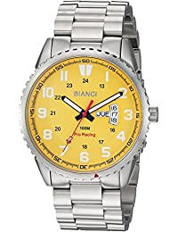 dp silver men s yellow chronograph with and quartz steel bracelet watches stainless sekonda watch dial display