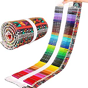 Dowswin 72 Colored Pencils Set For Adult Coloring Book,Professional Color Pencils Art Pencils For Kid Adults Artists…