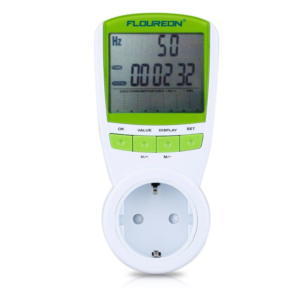 Floureon TS Medidor de potencia Monitor de energía con función de protección
