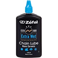 ZEFAL Extra Wet Lubricante de Cadena de cerámica, Unisex Adulto, Negro, 125 ml