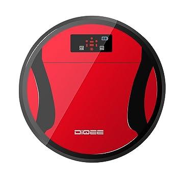 Wifi Bluetooth Robot aspirador autónomo (Smart, control remoto Limpieza Suelo Cleaning 2 en 1 robot inteligente limpieza con capacidad 280 ml rojo: ...