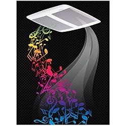 Broan SPK110 110-CFM 1.0-Sones Sensonic Speaker Fan with Wireless Technology, White