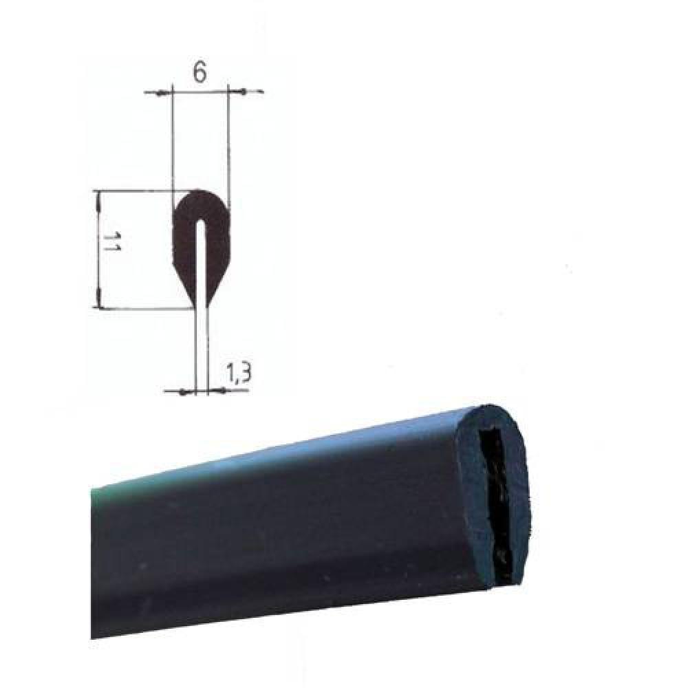 EUTRAS Kantenschutz KSO4005 Kabelschutz Schutzleiste – Spaltmaß 1,3 mm – schwarz – 20 m