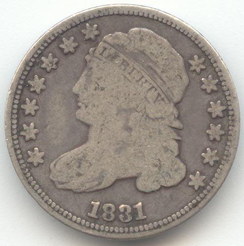 1831 Capped Bust Half Dime Choice Good