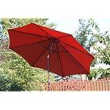California Umbrella 9-Feet Aluminum Push Tilt Patio Style Umbrella, Brick