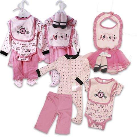 Baby Gift Set 7 Pieces Ballerina 36 pcs sku# 916327MA by DDI