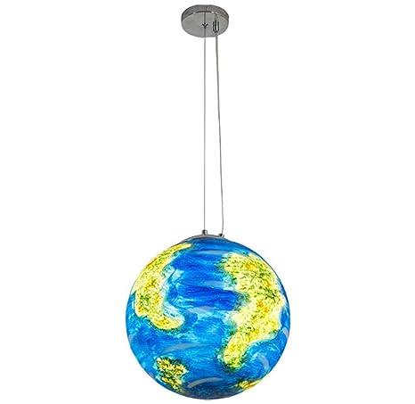 Lámpara de araña Sombra Acrílico Tierra Planeta Luces de ...