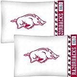 NCAA Arkansas Razorbacks Football Set of Two Pillowcases