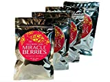 Miracle Berries by the Snozzberry Farm, freeze dried 100% Miracle fruit, Bulk 4-Pack 700 berry halves, Non-GMO, Grown in the USA, Makes sour sweet, Great for flavor tripping parties and everyday use.