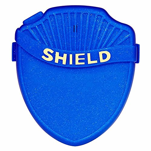 Shield Prime Bedwetting Enuresis Alarm for Boys and Girls with Loud Tone, Light and Vibration. Best Bedwetting Alarm for Deep Sleepers to Stop Nighttime Bedwetting, Navy Blue