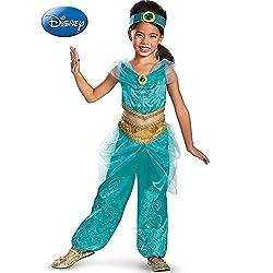 Disguise Disney's Alladin Jasmine Sparkle Deluxe Girls...