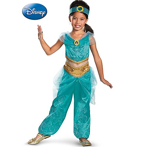 Disguise Disney's Alladin Jasmine Sparkle Deluxe Girls Costume