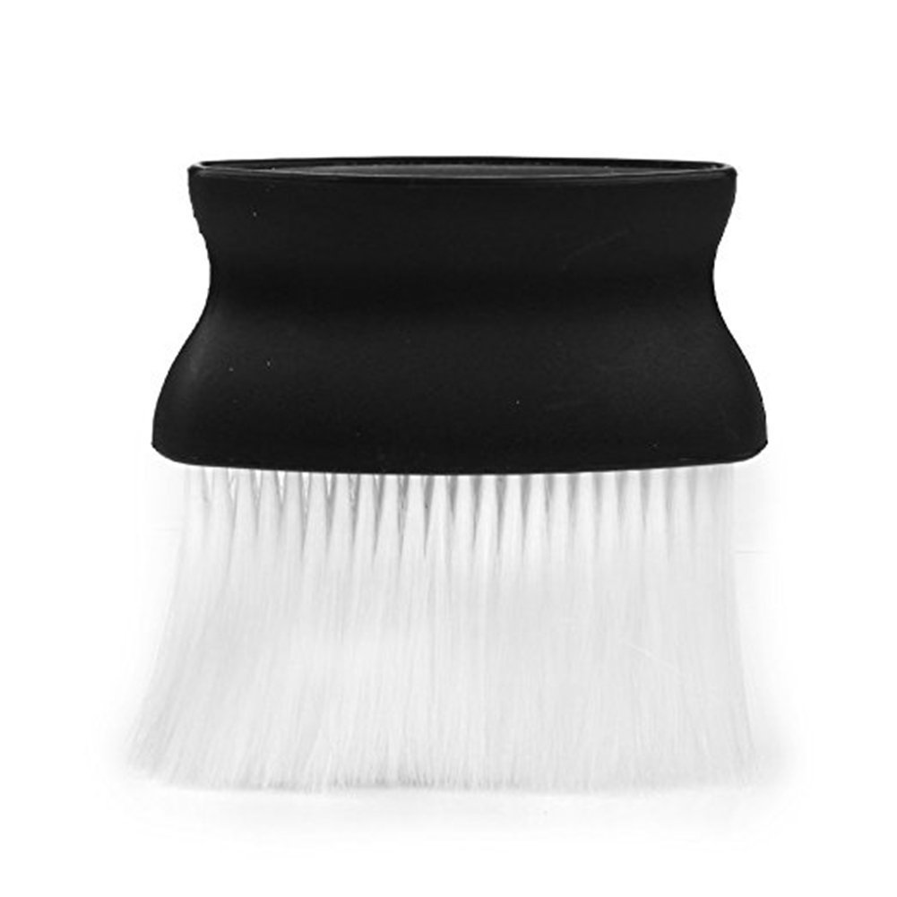 NiceButy 1Pcs Barber Neck Face Duster Plastic Brush Hairdressing Brush Hair Salon Neck Brush