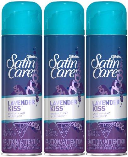 Gillette Satin Care Shave Gel-Lavender Kiss-7 oz, 3 pk
