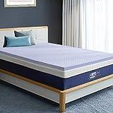 BedStory Memory Foam Mattress Topper Queen, 3 Inch Lavender Infused Memory Foam Topper