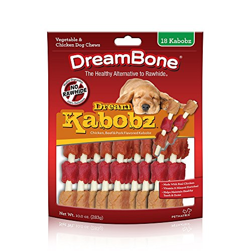 Dreambone Kabobz Pet Chew, Dog Treats, 18 Pack ()