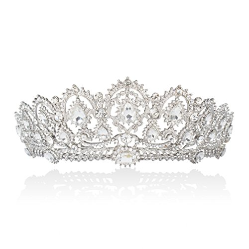 Rhinestone Crystal Bridal Crowns Tiaras Prom Queen Crown Pageant Crowns Princess Crown for Women