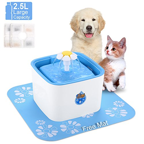 Dishes, Feeders & Fountains Cat Supplies Qualified 6 Pack Flower Cat Fountain Filters Carbon Replacement Filters For Pet Fountain To Make One Feel At Ease And Energetic
