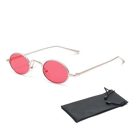 dce66f6d10 Gafas de sol ovaladas de Aolvo, pequeñas, unisex, estilo retro y vintage,