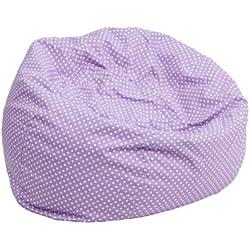 Flash Furniture Small Lavender Dot Kids Bean Bag Chair