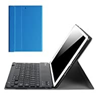 Fintie iPad 9.7 Inch 2017 / iPad Air 2 / iPad Air Keyboard Case - Slim Shell Stand Cover with Magnetically Detachable Wireless Bluetooth Keyboard for Apple iPad 9.7 2017, iPad Air 1 2, Royal Blue