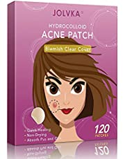 JOLVKA Blemish Pimple Patch (120 Patches), Hydrocolloid Spot Dots for Face(2 Sizes), Pimple Patch Stickers