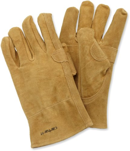 Carhartt Men's Leather Fencer Work Glove, Brown, Large ()