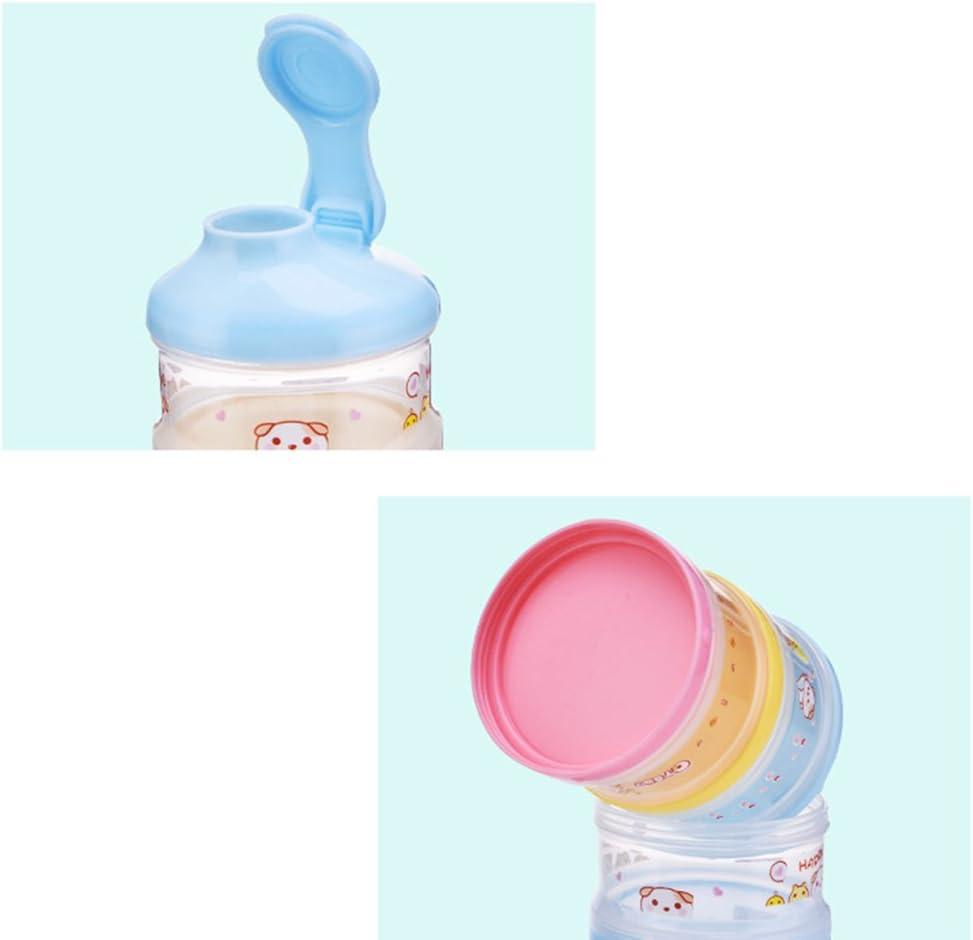 Rosa BPA-frei MagiDeal Milchpulver-Portionierer 4-Schicht