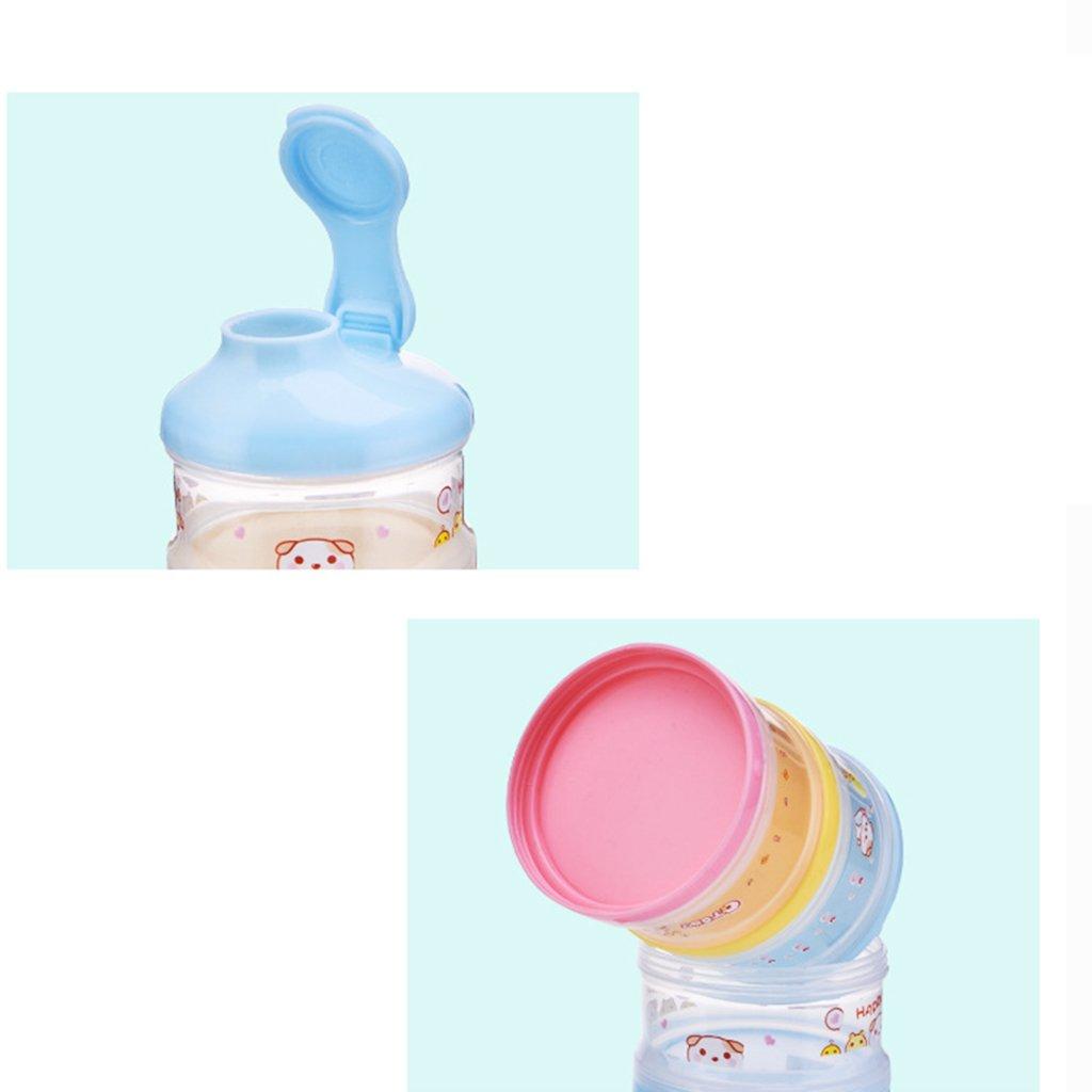 Sharplace Bo/îte Doseuse /à Poudre de Lait 4 Compartiments Bleu