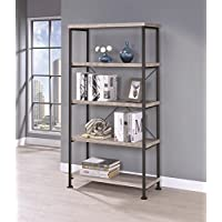 801546 BOOKCASE Finish Color GREY DRIFTWOOD by coaster