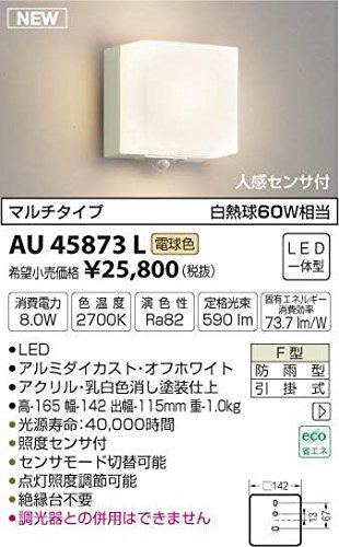 AU45873L 電球色LED人感センサ付アウトドアポーチ灯(グリーン購入法適合製品) B01GCAZ0XI