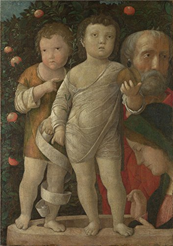 Oil Painting 'Andrea Mantegna The Holy Family With Saint John ' Printing On Perfect Effect Canvas , 8 X 11 Inch / 20 X 29 Cm ,the Best Gift For Relatives And Home Decoration And Gifts Is This Amazing Art Decorative Prints On Canvas