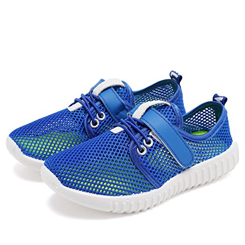 CIOR Kids Casual Shoes Breathable Slip-on Sneakers For Running Pool Beach (Toddler / Little Kid) SC217 Blue 28 3