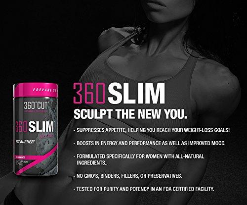 360 Cut 360 Slim for her Fat Burner Dietary Supplement, 90 Capsules (45 servings)